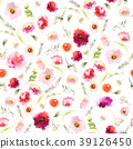floral, flower, watercolor 39126450