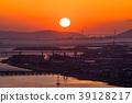 Prefecture จังหวัดโอซาก้า夕ชมพระอาทิตย์ตกเหนือเกาะอาวาจิ 39128217
