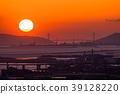 Prefecture จังหวัดโอซาก้า夕ชมพระอาทิตย์ตกเหนือเกาะอาวาจิ 39128220