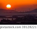 Prefecture จังหวัดโอซาก้า夕ชมพระอาทิตย์ตกเหนือเกาะอาวาจิ 39128221