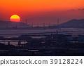 Prefecture จังหวัดโอซาก้า夕ชมพระอาทิตย์ตกเหนือเกาะอาวาจิ 39128224