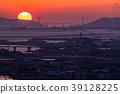 Prefecture จังหวัดโอซาก้า夕ชมพระอาทิตย์ตกเหนือเกาะอาวาจิ 39128225