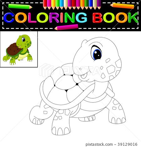 - Turtle Coloring Book - Stock Illustration [39129016] - PIXTA