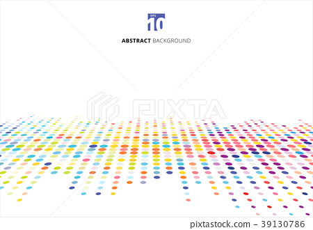 Abstract colorful halftone texture dots pattern 39130786