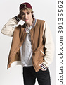 Fashionable, Handsome man poses in fancy clothes 39135562