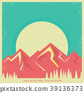 mountain, sun, design 39136373