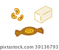 Illustration material set of soybeans and foods using soybeans 39136793