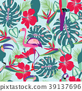tropical, toucan, flowers 39137696