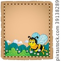 Parchment with happy bee theme 1 39138289