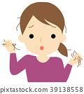 Women suffering from hair loss 39138558