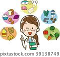 5 대 영양소와 영양사의 일러스트 소재 39138749