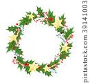 wreath, christmas, holly 39141003
