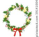 wreath, christmas, holly 39141004