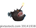 Anglerfish cartoon style with big mount. 39141938