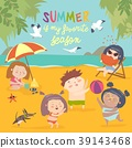 Summer childs outdoor activities. Beach holiday 39143468