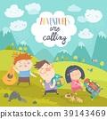 hiking, mountain, children 39143469