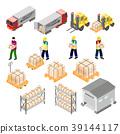 isometric logistic warehouse 39144117