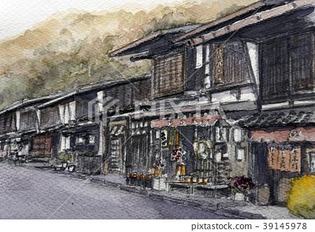 Post town Japan's private house Nakasendo Minado 39145978