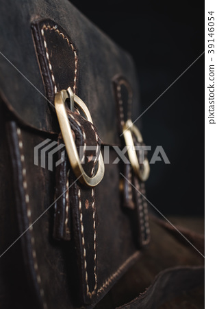 Leather brown bag background 39146054