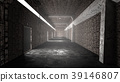 realistic old tunnel or old prison corridor 39146807