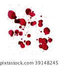Blood splashes. Vector image isolated on a white 39148245