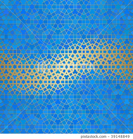 Abstract Background With Islamic Ornament Arabic Stock