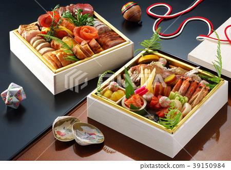 食物烹饪重量顶级新年新年菜肴日本料理传统菜肴日本料理新年贝类套餐 39150984