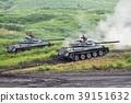 Land Self-Defense Force 74 tank doing artillery exercises 39151632