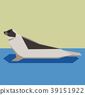 Flat design Harp seal 39151922
