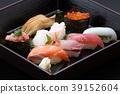 물고기 생선 요리 초밥 특상 쥠 초밥 일식 생선회 일식 초밥 모듬 고급 재료 39152604
