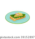Creative sandwich with lettuce and cheese in the 39152897