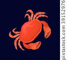 螃蟹 蟹 红色 39152976