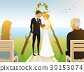 Bride And Groom. Wedding ceremony on the beach by 39153074