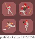 Baseball team player vector sport man in uniform 39153756