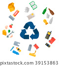 Different recycling garbage waste types sorting 39153863
