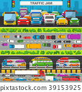 Traffic jam vector transport car vehicle and bus 39153925