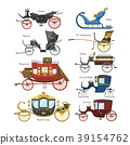 Carriage vector vintage transport with old wheels 39154762
