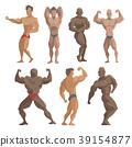 vector, bodybuilder, character 39154877