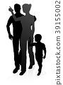 Family Detailed Silhouette 39155002