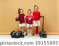 Happy and beautyful children show different sport 39155605