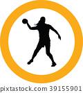 handball girl player silhouette 39155901