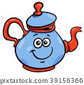 teapot or kettle cartoon character 39156366