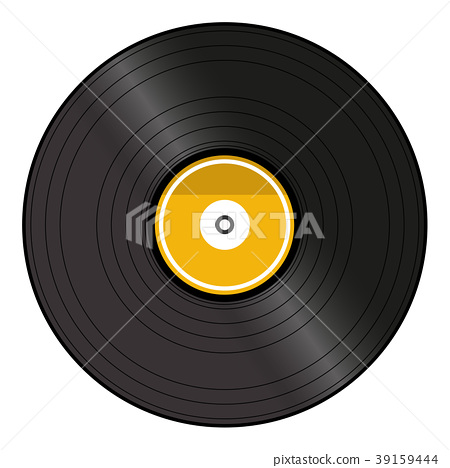 Vinyl record. Isolated on white background. 39159444