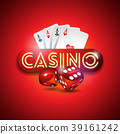 Vector illustration on a casino theme with shiny 39161242