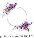 Bouquet flower wreath in a watercolor style. 39163421