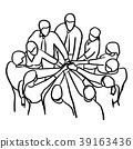 Business people teamwork join Hands vector 39163436