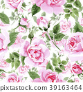 floral, pink, watercolor 39163464