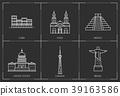 American landmarks. Line style illustration 39163586