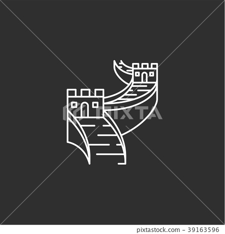 China landmark. Illustations in outline style 39163596