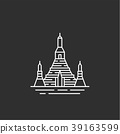 Thailand landmark. Illustations in outline style 39163599
